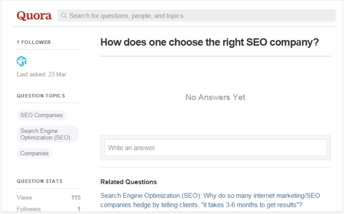 Using Quora to find the right answers