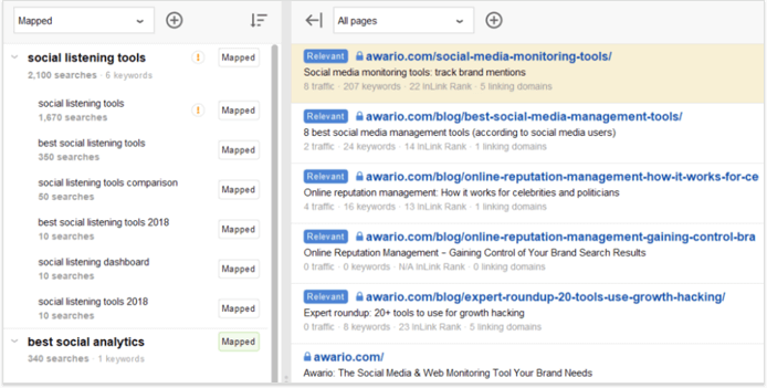 Keyword mapping helps to prioritize tasks