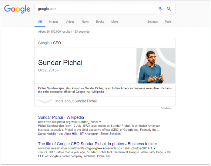 More rich results in Gooogle