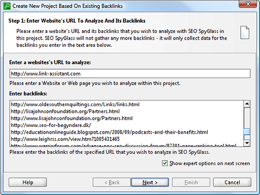 Analyze any backlink