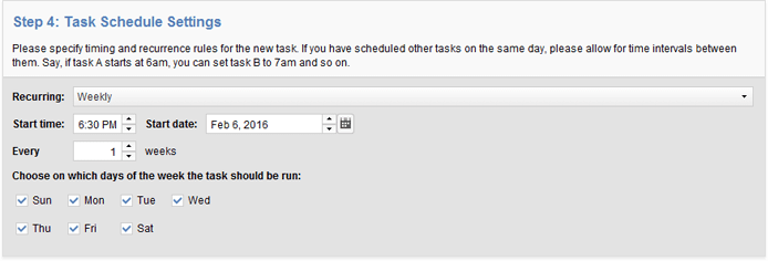 Creating scheduled tasks