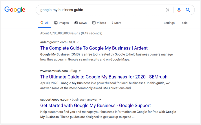 Check top 10 on the SERP