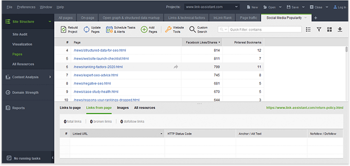 Use filters to pick your best link prospects