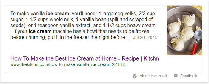Featured snippet