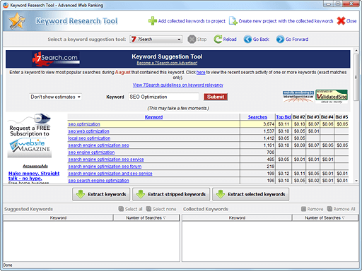 Advanced Web Ranking Keyword Research Tool