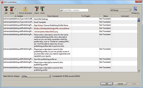 Translation window