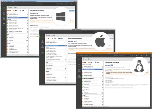 3 supported platforms: Windows, Mac OS X, Linux