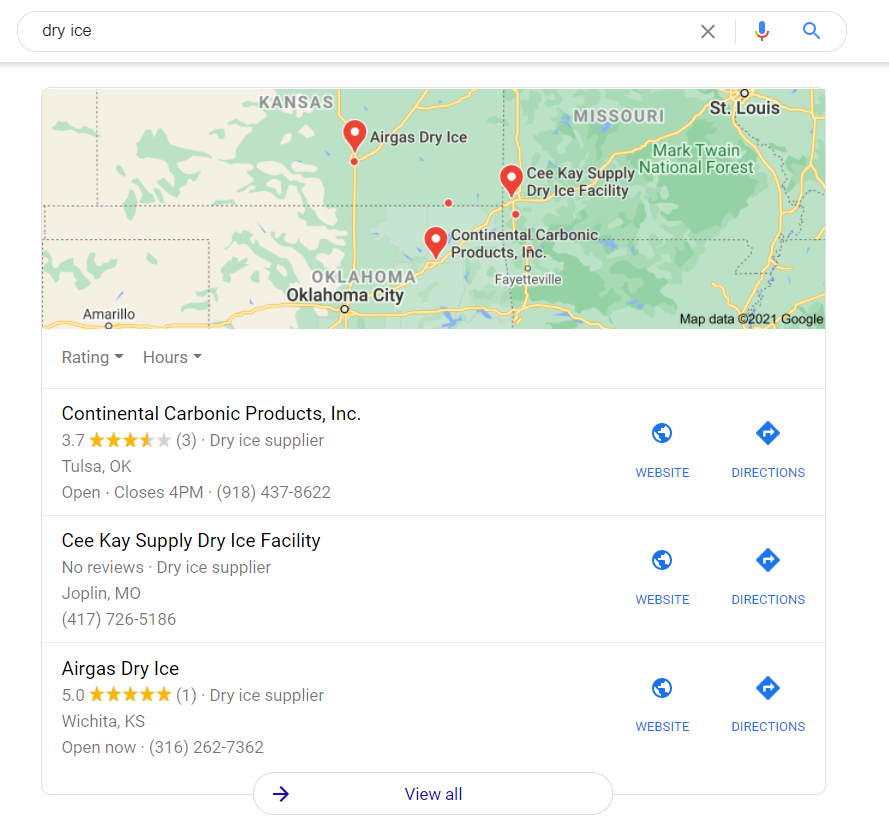 Local Pack SERP feature