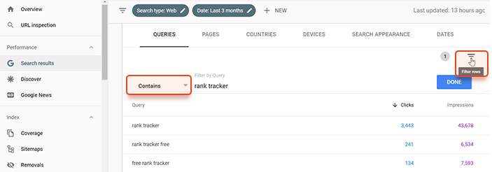 Find your brand keywords in Search Console
