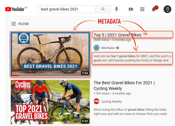 youtube video metadata