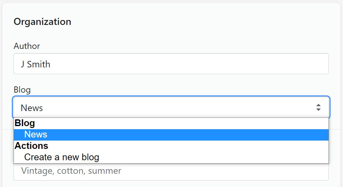 shopify blog customization
