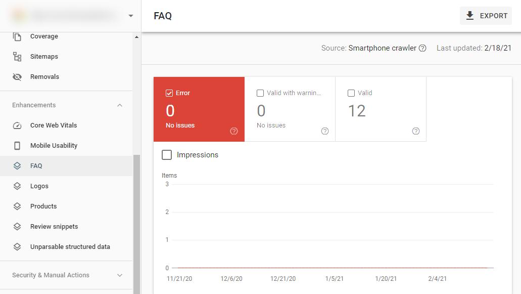 Báo cáo tuỳ chỉnh trong Google Search Console