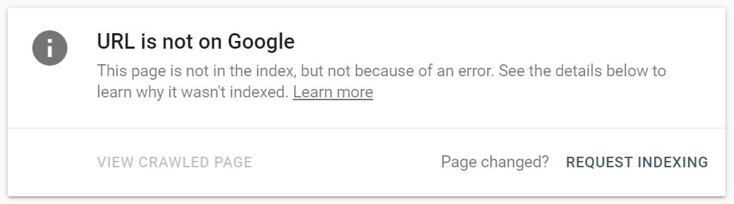 unindexed page