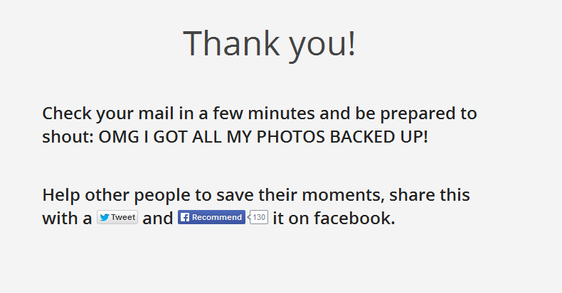 Copygram thank you for backup