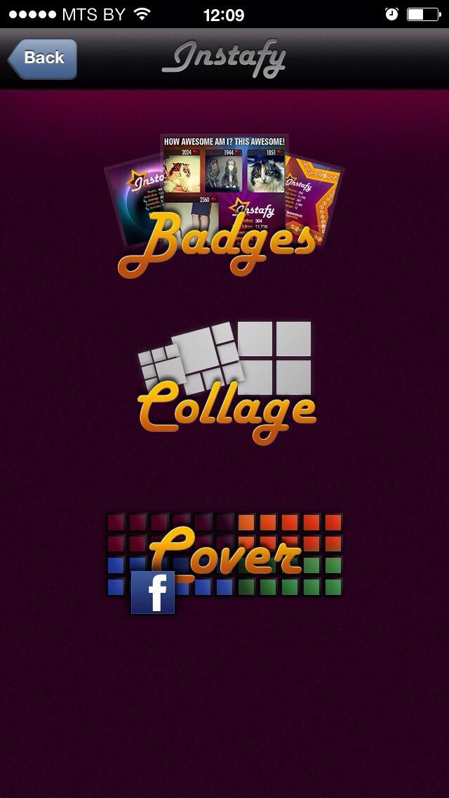 Instafy badges