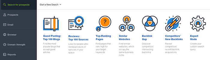 Search link building prospects