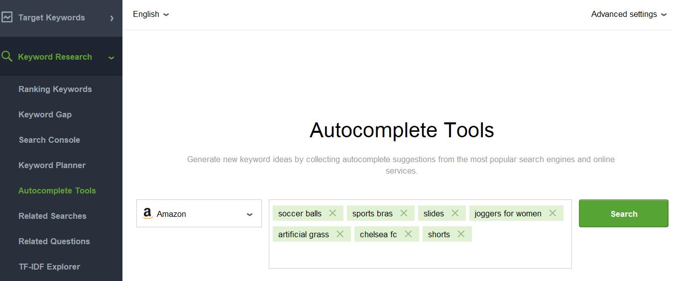 rank tracker autocomplete tools