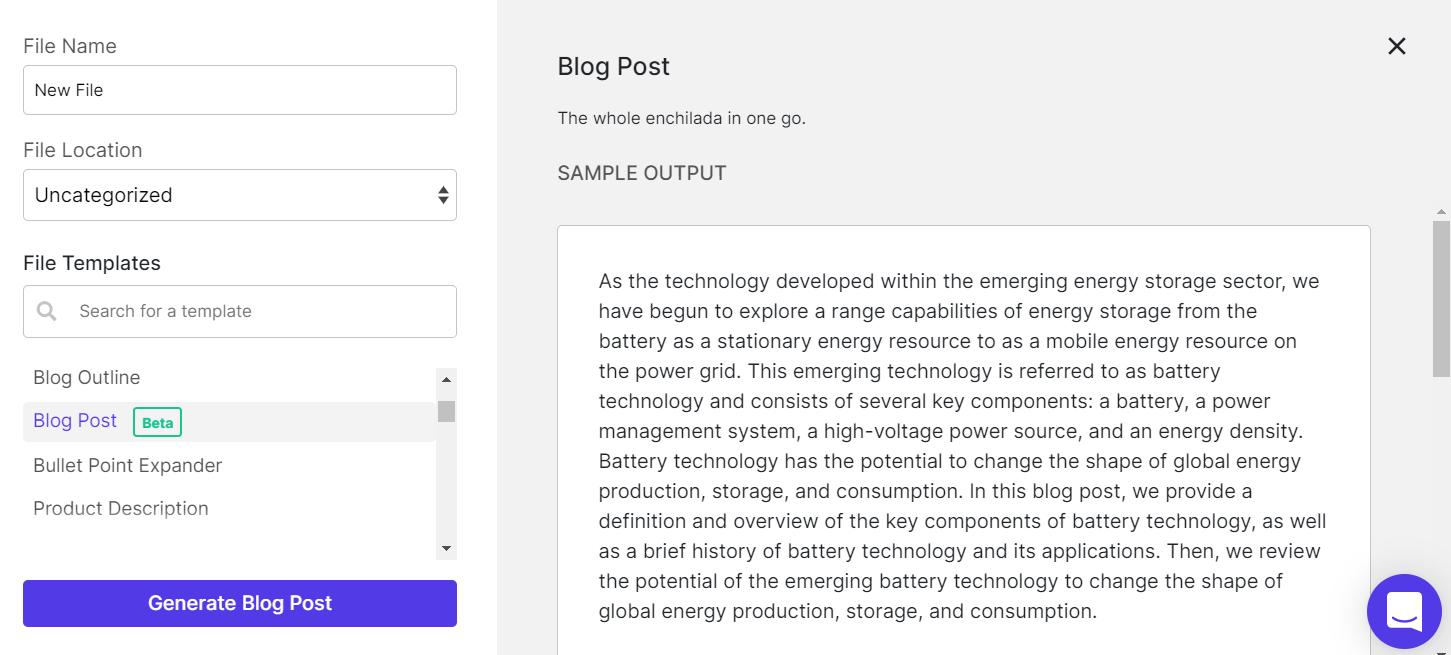 copysmith blog post generation