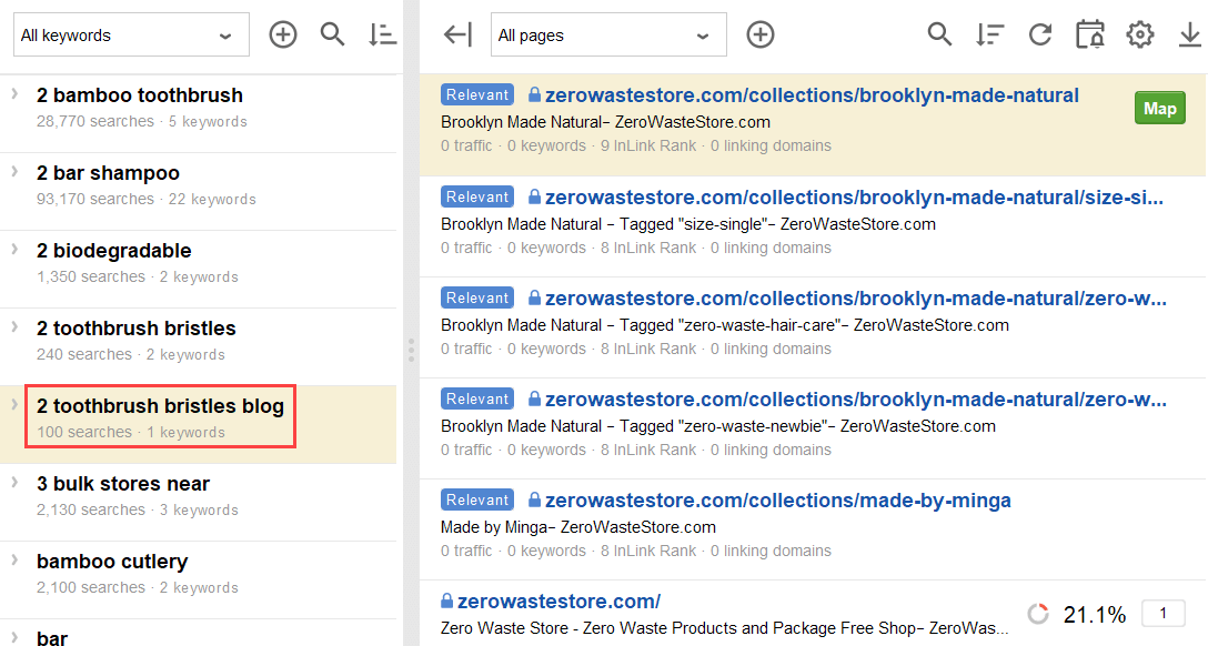 suggested relevant pages