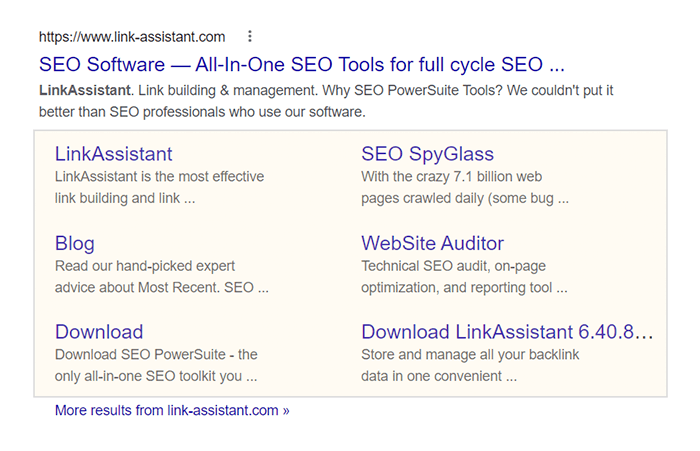 Try to get sitelinks on the SERP