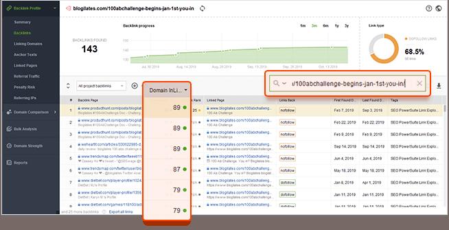 Analyze backlink profiles